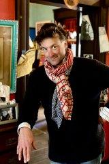 Artist and trustee Luke Sciberras at the Martin Sharp house.