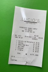 Lunch from Lucio's