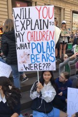 Isabella Morgan skipped school to protest the government's inaction on climate change.