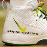 Ben Simmons marks his solidarity with fellow Australians dealing with the bushfire crisis.