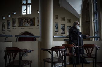 Senior parish priest Youhanna Bestawros says the church is providing much-needed 'social infrastructure' for Rhodes.