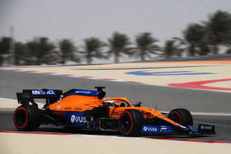 Daniel Ricciardo was fastest in the morning for McLaren.