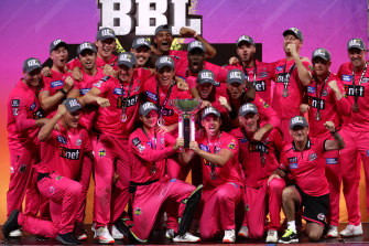The Sixers won the 2020-21 Big Bash title despite playing only one home game.