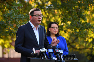 Premier Daniel Andrews and Health Minister Jenny Mikakos announced a massive expansion of Victoria's intensive care capacity on Wednesday.
