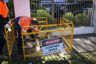 Waste water testing at the COVID-hit Arcare aged care home in Maidstone.