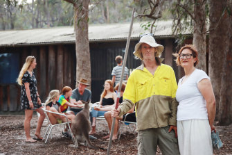 Owner Julie Pennefather (right) has been unable to obtain insurance on her property, Woodbine Park Eco Cabins near Merimbula, for the first time in 35 years.