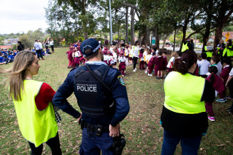 Students from Willoughby Public School and Willoughby Girls High School were evacuated to a nearby park after threatening emails were sent to the school.