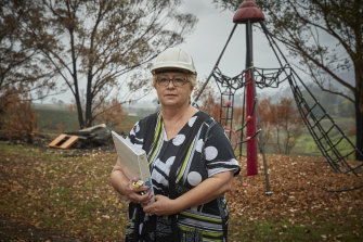 Gail Austin, an asset services officer at School Infrastructure NSW, has been working on the local public school's recovery in bushfire-ravaged Cobargo.