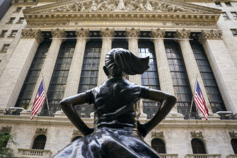 In 2018  Fearless Girl, commissioned by State Street Global Advisors, was moved to the front of the New York Stock Exchange.