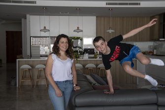 Jennifer and Oscar Ayoub in their Carlingford home. Oscar is allergic to baked and cold milk.