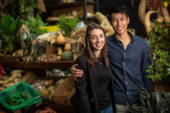 Jess Welk and Andrew Jiang have moved home to Melbourne permanently because of the COVID-19 crisis in the United Kingdom.