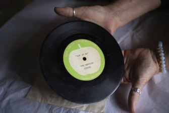 A rare preview pressing of the Beatles' Let It Be, a gift from John Lennon to Brisbane music journalist Ritchie Yorke.