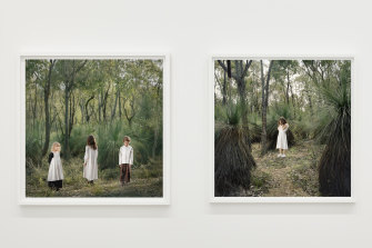 Installation view of 'Haunted Country' on display in 'Olympia: Photographs by Polixeni Papapetrou'