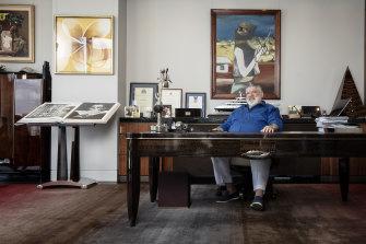 Art lover John Symond inside his Point Piper home office.