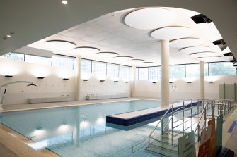 The centre's hydrotherapy pool.