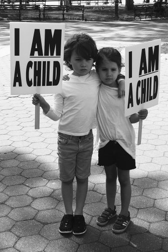 """Growing up in New York, writes Bryant, his kids """"became politicised from an unusually – and maybe unhealthily – early age. At their own instigation, they attended rallies protesting the detention of children in cages on the border with Mexico."""""""