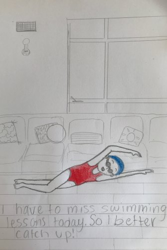 Drawings of life in isolation by Alice Glen, 12.