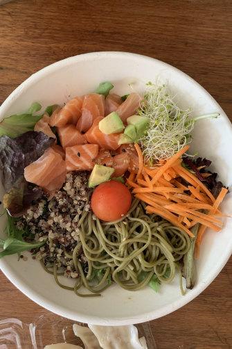 Quinoa and sashimi bowl for Jacqueline Maley.