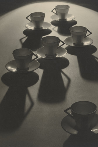"""Tea Cup Ballet"", one of Olive Cotton's best-known photos,  taken in 1935."