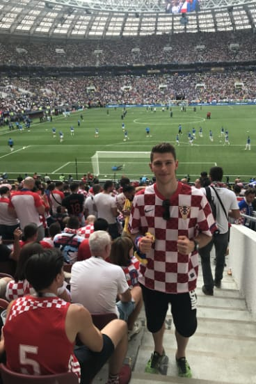 Roko Strika was at the World Cup final in Russia watching his former teammates.