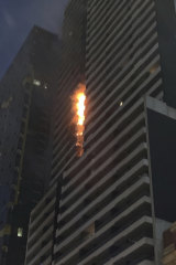 The Neo 200 blaze on Spencer Street on February 4.