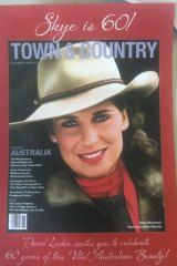 Covergirl: Skye Leckie on the cover of American magazine Town & Country in 1982.