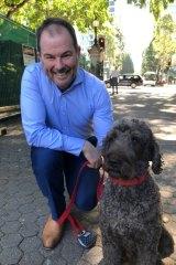 Steve Bakker with Bozo in Brisbane's Botanical Gardens.