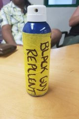Mr Tupetagi says he was given this canister when he asked his employer for sunscreen.