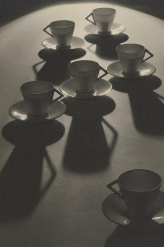 """""""Tea Cup Ballet"""", one of Olive Cotton's best-known photos,  taken in 1935."""