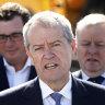 Labor leader Bill Shorten in Melbourne's south east on Sunday.