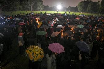 Hundreds attended the vigil for Courtney.