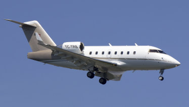 A Bombardier CL604 aircraft.