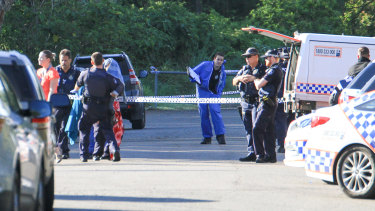 Police are investigating the killing of a Brisbane father in his front yard at Kuraby.