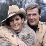 Italian actress married to Roger Moore during James Bond stardom