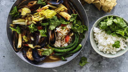 Karen Martini's Thai mussel and celery curry