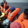 UN, coast guard say boat with dozens of migrants capsizes off Libya