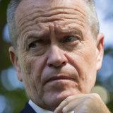 Labor leader Bill Shorten in Melbourne on Saturday.