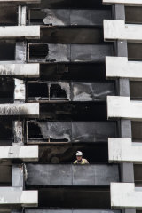 The cladding on a building in Melbourne caught fire earlier this year.