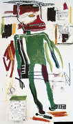 """Detail of Jean-Michel Basquiat's """"Because it hurts the lungs"""" (1986)."""