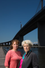 Bindi Cole Chocka and Donna Jackson, the producers of The Bridge, a play written with quotes and stories from people who worked on the West Gate Bridge around the time of its collapse.