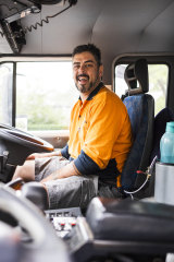 Indigenous comedian and  garbage truck driver, Cy Fahey.