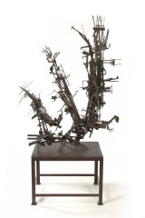 Robert Klippel, No. 247 Metal construction 1965-68, welded and brazed steel, found objects and wood.
