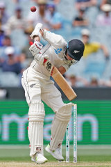 New Zealand's Mitchell Santner on day three of the Boxing Day Test.