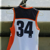 Jacinda Barclay's number 34 guernsey hung at the interchange bench throughout the game.