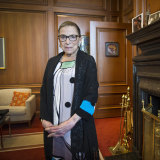 Ruth Bader Ginsburg serves as a Justice of the US Supreme Court at age 86.