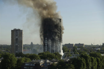 The same flammable cladding on Lacrosse was on London's Grenfell Tower (pictured). The public housing tower caught fire in 2017, killing 72 people.
