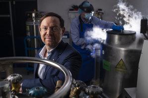 Professor John Rasko has led a world-first human clinical trial using reprogammed stem cells to treat an immune disorder called graft versus host disease.