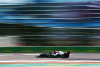 The Mercedes of Lewis Hamilton.