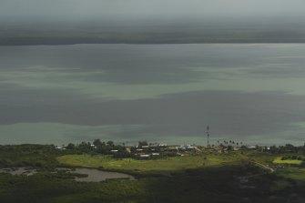 Saibai Island is less than four kilometres from the PNG mainland.