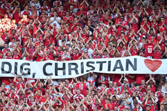 A tribute on Friday morning to Denmark international Christian Eriksen, who collapsed during his country's Euro 2020 opener against Finland.